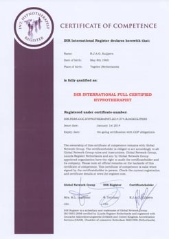 Certificaat of competence I.H.R.